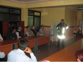 Beyşehir Devlet Hastanesinde yangın eğitimi