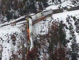 Tren böyle durdu