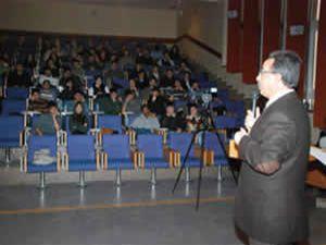 Başkan Hançerli, üniversite öğrencilerine ders verdi