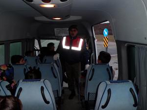 Okul servis araçlarına sıkı takip