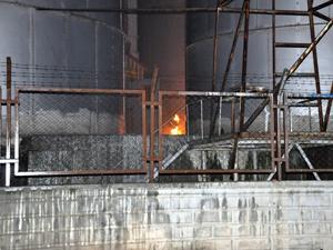 Konyada TMOnun silosunda yangın çıktı