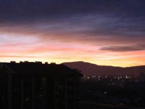 Konyada gün batımı seyri
