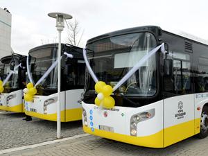 Konyada 100 yeni doğalgazlı otobüs hizmete sunuldu
