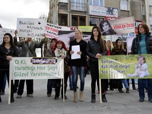 Konyada hayvanları koruma kanunu protesto edildi