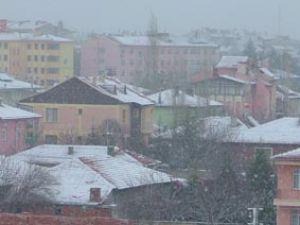 Konyada kar kuzeyden gelmeye başladı