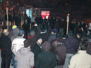 Konyada Mısıra protesto