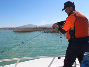 Jandarma Beyşehir Gölünü kirlilikten kurtarıyor
