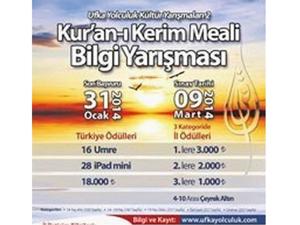 Kuran-ı Kerim meal yarışması başlıyor