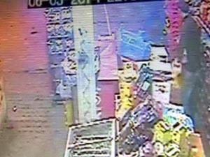 Yağ hırsızı güvenlik kamerasında