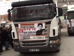 Konyadan Suriyeye 5 tır yardım