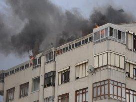 Çatı katında yangın