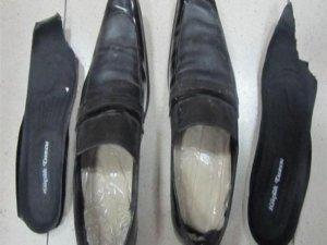 Ayakkabı tabanından eroin çıktı