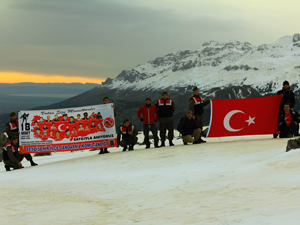 2 bin metrede Çanakkale Şehitleri anıldı