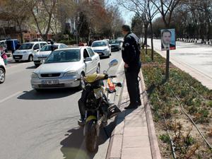 Konyada motosiklet kazası: 2 yaralı