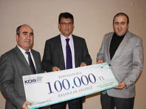Konyaspor a 100 Bin liralık destek