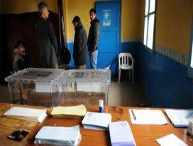 Bu ilçelerde oy verme işlemi tamamlandı