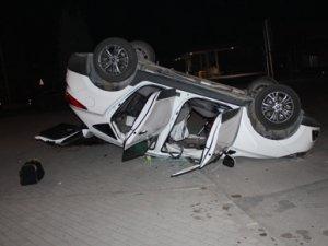Doğum için hastaneye giderken kaza yaptılar