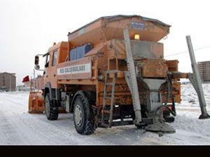 Konya da kar ve buzlanmaya karşı 7 özel ekip