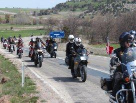 Motorsiklet tutkunları Beylehir'de buluştu