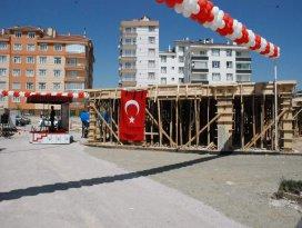Yavuz Sultan Selim camisini temeli dualarla atıldı
