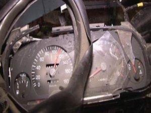 110 kilometre hızla kaza