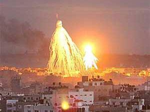 Gazze üzerinde dev Davud yıldızı!