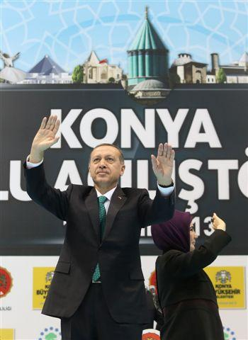 Başbakan Erdoğan Konyaya geldi