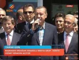 Başbakan Erdoğan Kon TVnin Hizmet Binasını Açtı