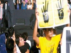 Obamaya Rabialı protesto