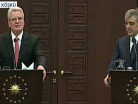 Cumhurbaşkanı Gül ve Gaucktan açıklama