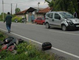 Elektrikli bisiklete birlikte binen 3 çocuk yaralandı
