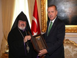 Erdoğan Patrik Vekili Ateşyanı kabul etti