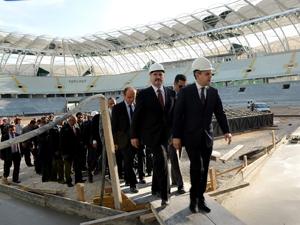 Bakan Kılıç yeni stadyumu inceledi