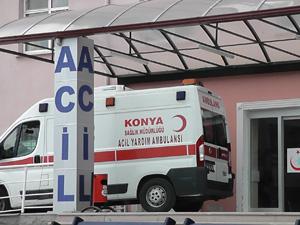 Sünger ve ot yutan çocuk hastaneye kaldırıldı