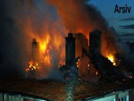 Başkentte iki ayrı yangın