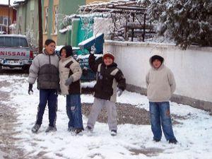 Çiftçide kar sevinci