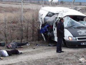 Ankara yolunda feci kaza!