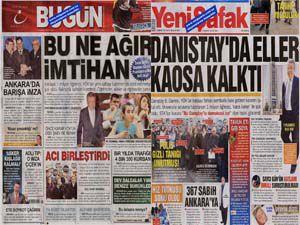 Gazetelerin danıştay manşetleri!
