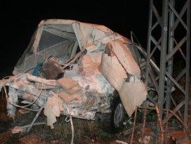 Konyada hemzemin geçitte kaza