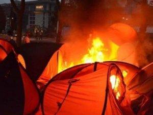 Gezideki çadırları Paralel müdür yaktırdı!