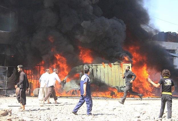 Varil bombası bu sefer cami bölgesini vurdu