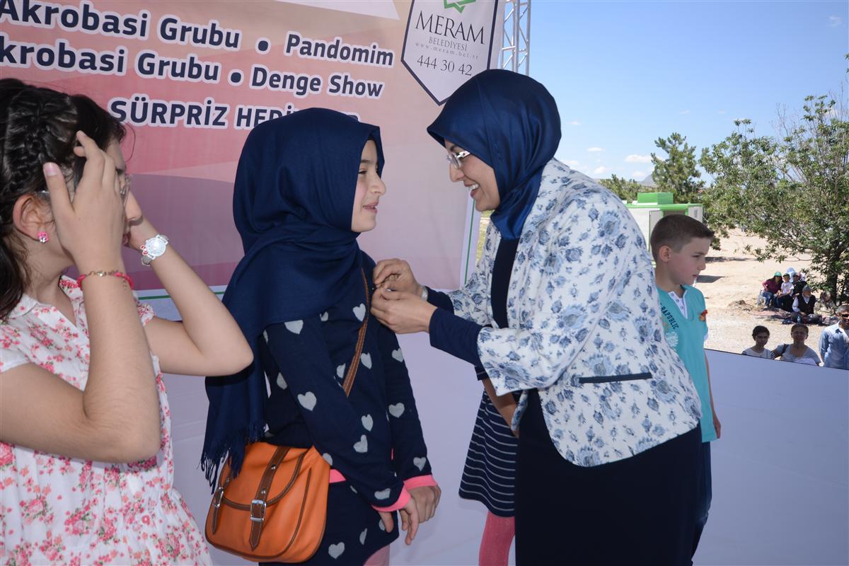 Meram'da çocuklar doyasıya eğlendi