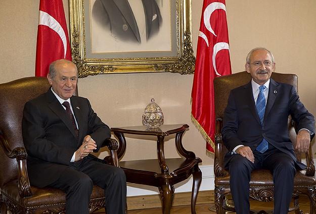 Kılıçdaroğlu ile Bahçeli görüşmesi başladı