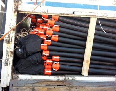 Sulama borularından 115 kilo esrar çıktı