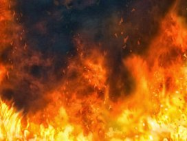 Konyada apartman dairesinde yangın