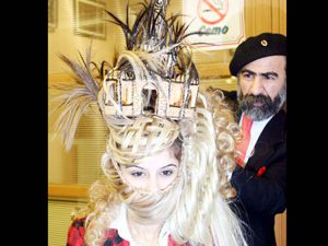 Bayan kuaförleri Konyada yarıştı