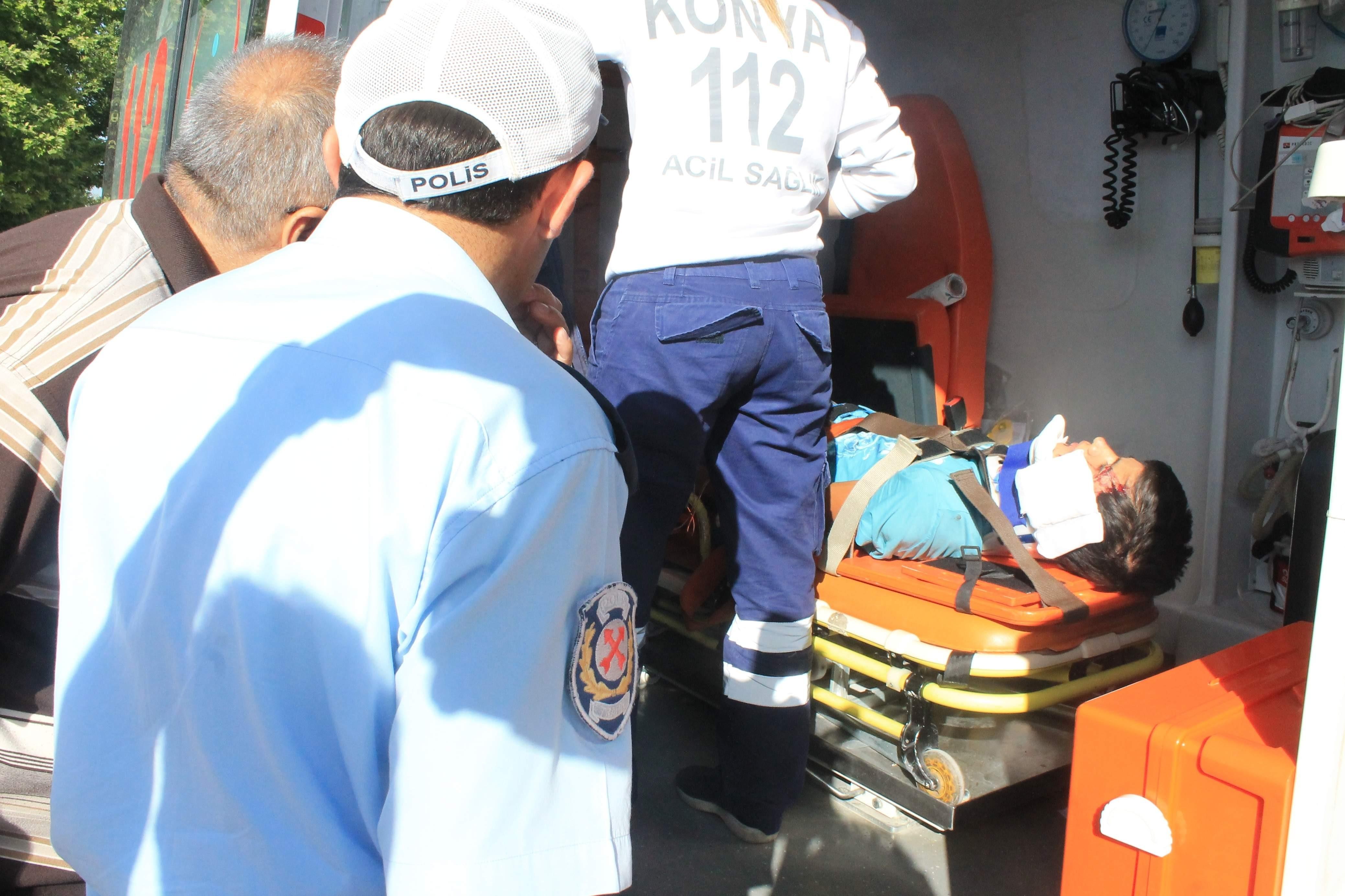 Konyada trafik kazası:1 yaralı