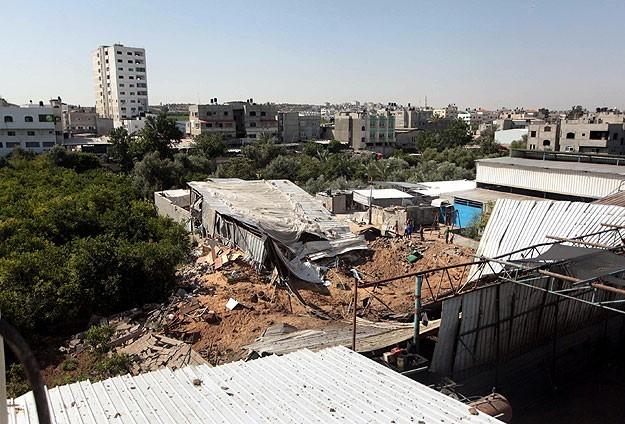 İsrail o bölgeye yine saldırdı