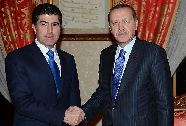 Erdoğan Barzani ile görüşüyor