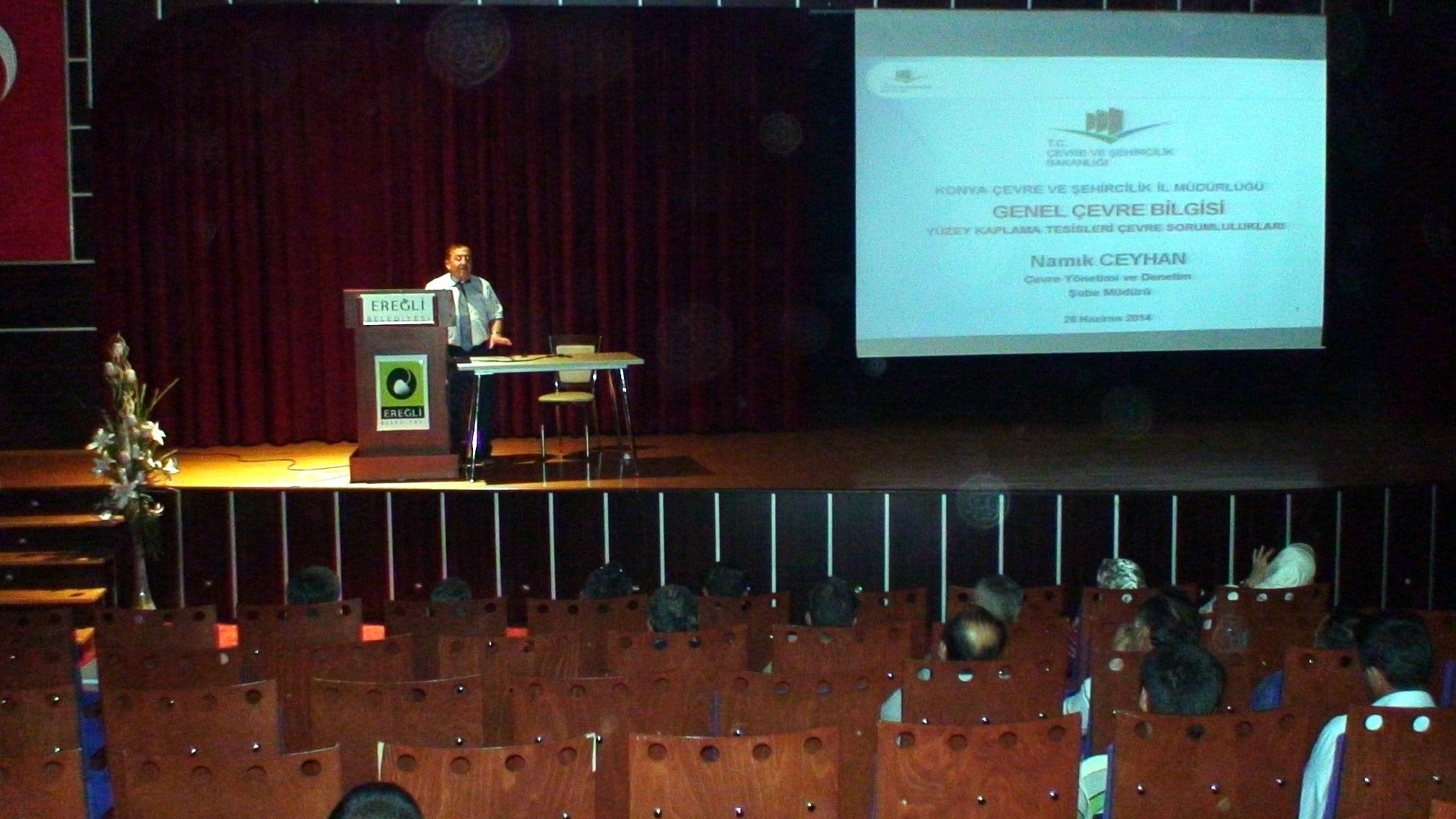 Ereğlide çevre bilgisi semineri